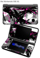 Abstract 02 Pink - Decal Style Skin fits Nintendo DSi XL (DSi SOLD SEPARATELY)