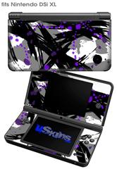 Abstract 02 Purple - Decal Style Skin fits Nintendo DSi XL (DSi SOLD SEPARATELY)