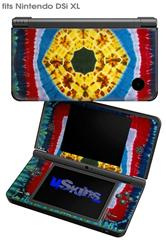 Tie Dye Circles and Squares 101 - Decal Style Skin fits Nintendo DSi XL (DSi SOLD SEPARATELY)