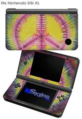 Tie Dye Peace Sign 104 - Decal Style Skin fits Nintendo DSi XL (DSi SOLD SEPARATELY)