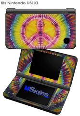 Tie Dye Peace Sign 109 - Decal Style Skin fits Nintendo DSi XL (DSi SOLD SEPARATELY)