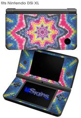 Tie Dye Star 101 - Decal Style Skin fits Nintendo DSi XL (DSi SOLD SEPARATELY)