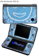 Tie Dye Happy 101 - Decal Style Skin fits Nintendo DSi XL (DSi SOLD SEPARATELY)