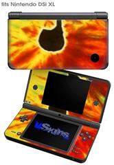 Tie Dye Music Note 100 - Decal Style Skin fits Nintendo DSi XL (DSi SOLD SEPARATELY)
