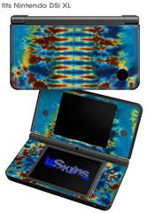 Tie Dye Spine 106 - Decal Style Skin fits Nintendo DSi XL (DSi SOLD SEPARATELY)