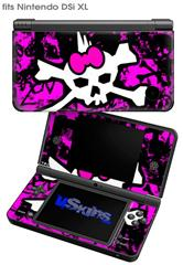 Punk Skull Princess - Decal Style Skin fits Nintendo DSi XL (DSi SOLD SEPARATELY)