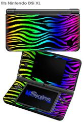 Rainbow Zebra - Decal Style Skin fits Nintendo DSi XL (DSi SOLD SEPARATELY)