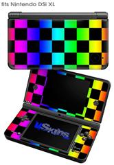 Rainbow Checkerboard - Decal Style Skin fits Nintendo DSi XL (DSi SOLD SEPARATELY)