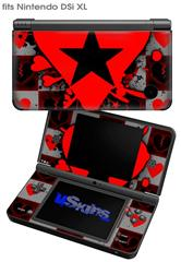 Emo Star Heart - Decal Style Skin fits Nintendo DSi XL (DSi SOLD SEPARATELY)