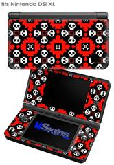 Goth Punk Skulls - Decal Style Skin fits Nintendo DSi XL (DSi SOLD SEPARATELY)