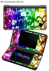 Rainbow Graffiti - Decal Style Skin fits Nintendo DSi XL (DSi SOLD SEPARATELY)