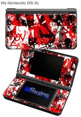 Red Graffiti - Decal Style Skin fits Nintendo DSi XL (DSi SOLD SEPARATELY)