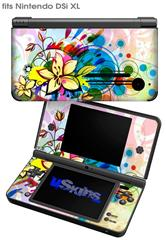 Floral Splash - Decal Style Skin fits Nintendo DSi XL (DSi SOLD SEPARATELY)