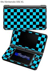 Checkers Blue - Decal Style Skin fits Nintendo DSi XL (DSi SOLD SEPARATELY)