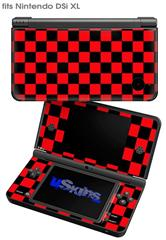 Checkers Red - Decal Style Skin fits Nintendo DSi XL (DSi SOLD SEPARATELY)