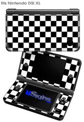 Checkers White - Decal Style Skin fits Nintendo DSi XL (DSi SOLD SEPARATELY)