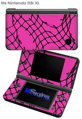 Ripped Fishnets Pink - Decal Style Skin fits Nintendo DSi XL (DSi SOLD SEPARATELY)