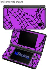 Ripped Fishnets Purple - Decal Style Skin fits Nintendo DSi XL (DSi SOLD SEPARATELY)