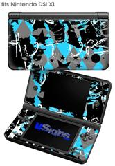SceneKid Blue - Decal Style Skin fits Nintendo DSi XL (DSi SOLD SEPARATELY)