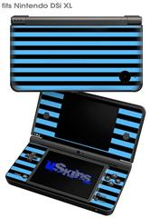 Stripes Blue - Decal Style Skin fits Nintendo DSi XL (DSi SOLD SEPARATELY)