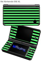Stripes Green - Decal Style Skin fits Nintendo DSi XL (DSi SOLD SEPARATELY)