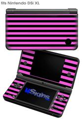 Stripes Pink - Decal Style Skin fits Nintendo DSi XL (DSi SOLD SEPARATELY)
