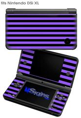 Stripes Purple - Decal Style Skin fits Nintendo DSi XL (DSi SOLD SEPARATELY)