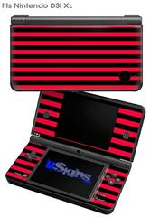Stripes Red - Decal Style Skin fits Nintendo DSi XL (DSi SOLD SEPARATELY)