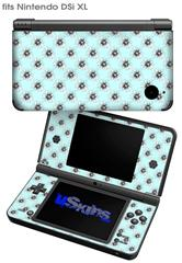 Kearas Daisies Seafoam - Decal Style Skin fits Nintendo DSi XL (DSi SOLD SEPARATELY)