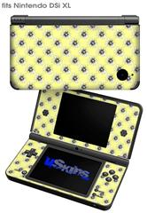Kearas Daisies Yellow - Decal Style Skin fits Nintendo DSi XL (DSi SOLD SEPARATELY)
