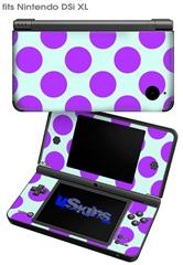 Kearas Polka Dots Purple And Blue - Decal Style Skin fits Nintendo DSi XL (DSi SOLD SEPARATELY)