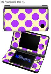 Kearas Polka Dots Purple On Cream - Decal Style Skin fits Nintendo DSi XL (DSi SOLD SEPARATELY)