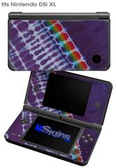 Tie Dye Alls Purple - Decal Style Skin fits Nintendo DSi XL (DSi SOLD SEPARATELY)