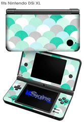 Brushed Circles Seafoam - Decal Style Skin fits Nintendo DSi XL (DSi SOLD SEPARATELY)
