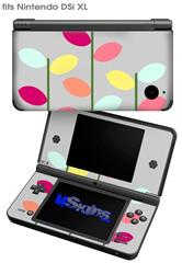 Plain Leaves On Gray - Decal Style Skin fits Nintendo DSi XL (DSi SOLD SEPARATELY)