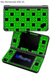 Criss Cross Green - Decal Style Skin fits Nintendo DSi XL (DSi SOLD SEPARATELY)