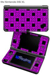 Criss Cross Purple - Decal Style Skin fits Nintendo DSi XL (DSi SOLD SEPARATELY)