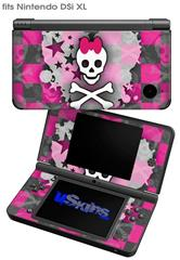 Princess Skull Heart - Decal Style Skin fits Nintendo DSi XL (DSi SOLD SEPARATELY)
