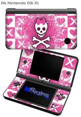 Princess Skull - Decal Style Skin fits Nintendo DSi XL (DSi SOLD SEPARATELY)