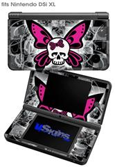 Skull Butterfly - Decal Style Skin fits Nintendo DSi XL (DSi SOLD SEPARATELY)