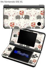 Elephant Love - Decal Style Skin fits Nintendo DSi XL (DSi SOLD SEPARATELY)