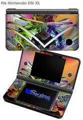Atomic Love - Decal Style Skin fits Nintendo DSi XL (DSi SOLD SEPARATELY)