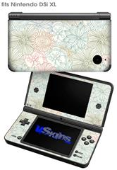 Flowers Pattern 02 - Decal Style Skin fits Nintendo DSi XL (DSi SOLD SEPARATELY)