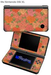 Flowers Pattern Roses 06 - Decal Style Skin fits Nintendo DSi XL (DSi SOLD SEPARATELY)