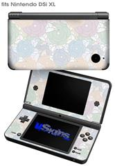 Flowers Pattern 10 - Decal Style Skin fits Nintendo DSi XL (DSi SOLD SEPARATELY)