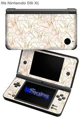 Flowers Pattern 17 - Decal Style Skin fits Nintendo DSi XL (DSi SOLD SEPARATELY)