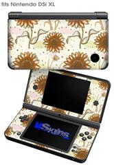 Flowers Pattern 19 - Decal Style Skin fits Nintendo DSi XL (DSi SOLD SEPARATELY)