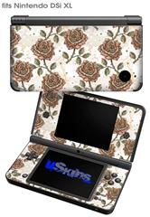 Flowers Pattern Roses 20 - Decal Style Skin fits Nintendo DSi XL (DSi SOLD SEPARATELY)
