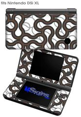 Locknodes 01 Chocolate Brown - Decal Style Skin fits Nintendo DSi XL (DSi SOLD SEPARATELY)