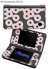 Locknodes 02 Pink - Decal Style Skin fits Nintendo DSi XL (DSi SOLD SEPARATELY)